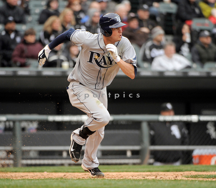 REID BRIGNAC, of the Tampa Bay Rays , in actions during the Rays game against the Chicago White Sox at US Cellular Field on April 7, 2011.  The Chicago White Sox won the game beating the Tampa Bay Rays 5-1.