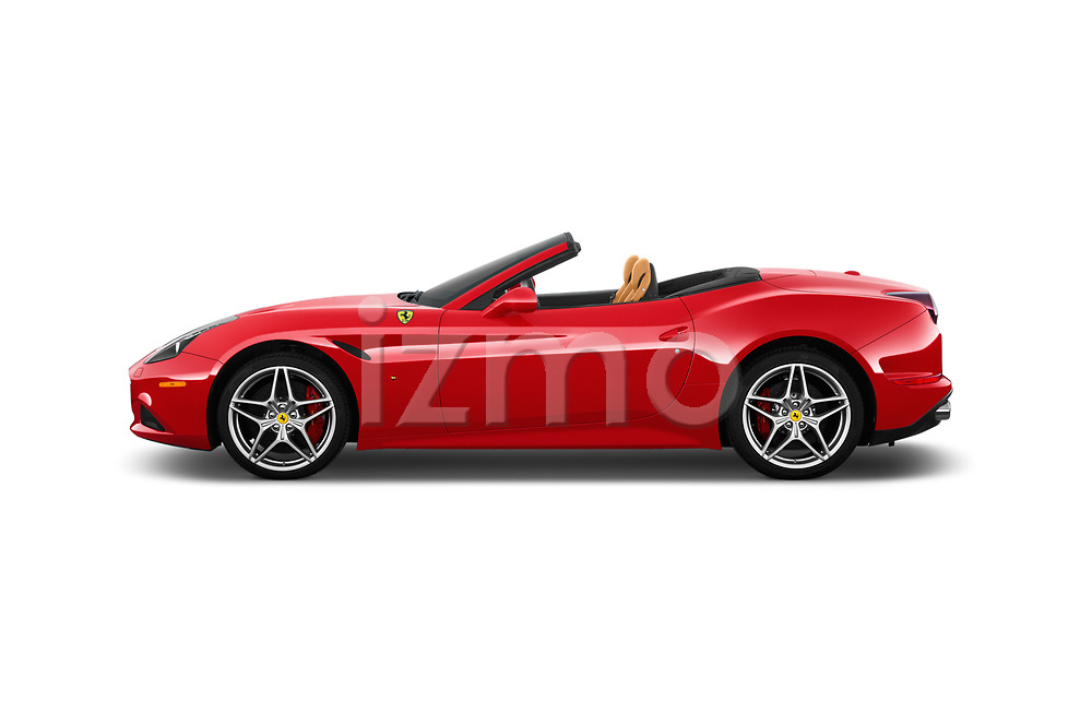 Car Driver side profile view of a 2016 Ferrari California-T 2 Door Convertible Side View