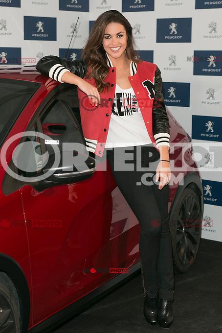 Spanish of sports presenter Lara Alvarez, current girlfriend of the Formula 1 driver Fernando Alonso, during the presentation of new Peugeot 208 GTI at Jarama Circuit in Madrid, Spain. January 20 2015. (ALTER PHOTOS/Carlos Dafonte) /NortePhoto<br /> NortePhoto.com