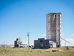 Abandoned grain elevators, Hollister, Idaho.