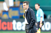 D.C. United head coach Ben Olsen during the game. The Columbus Crew defeated D.C. United 2-1 ,at RFK Stadium, Saturday March 23,2013.