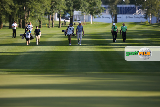 Long fairway shadows across the 10th during Round Two of the 2015 BMW International Open at Golfclub Munchen Eichenried, Eichenried, Munich, Germany. 26/06/2015. Picture David Lloyd | www.golffile.ie