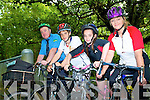NATIONAL BIKE WEEK: Encouraging Family Fun Cycling and Cycling to work as part of National Bike Week at Ballyseedy Wood on Thursday l-r: Postman John Brosnan, Tommy, Sa?idbh and Myriam Pope.