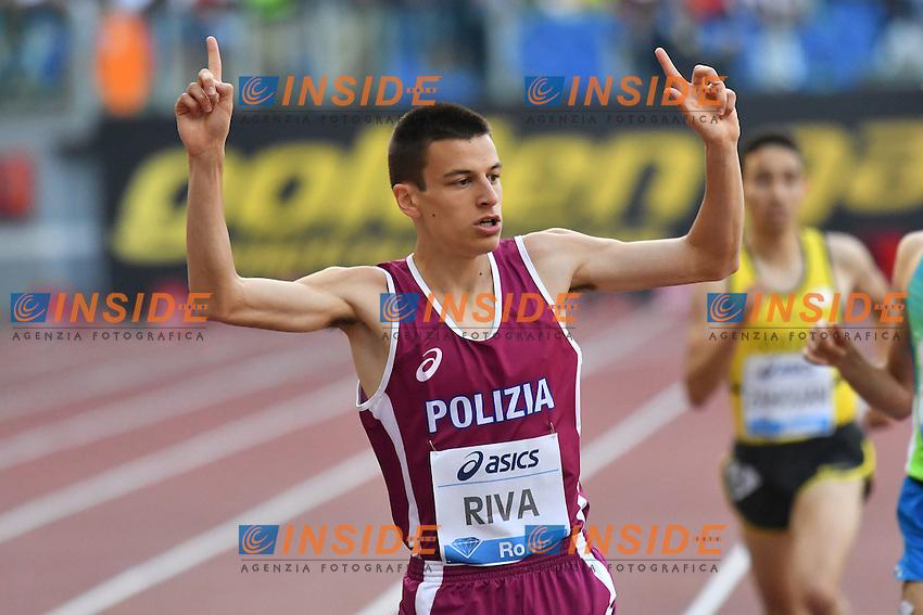 Pietro RIVA ITA 1500m Men Under 20 <br /> Roma 02-06-2016 Stadio Olimpico <br /> IAAF Diamond League Golden Gala <br /> Atletica Leggera<br /> Foto Andrea Staccioli / Insidefoto