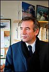 François Bayrou / Président du Mouvement Démocrate MODEM en visite à la Maison de la Montagne à Pau / 64 Pyrénées Atlantiques / Rég. Aquitaine / François Bayrou former president of the MODEM french party / France