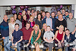 Fab Fifty<br /> -----------<br /> Nuala Carey, Monavalley, Tralee, seated centre, had a fab night celebrating her 50th birthday in the Brogue, Tralee, last Sunday Dec 27th,with many friends and family.