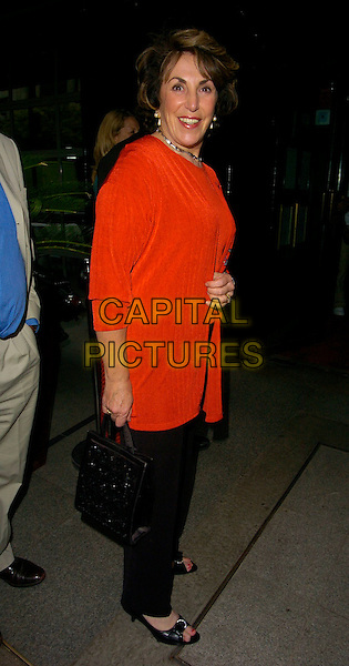 "EDWINA CURRIE.""The Beautiful Game"" football party, Embassy Club, London, UK..June 19th, 2006.Ref: CAN.full length black bag purse red cardigan trousers.www.capitalpictures.com.sales@capitalpictures.com.©Capital Pictures"