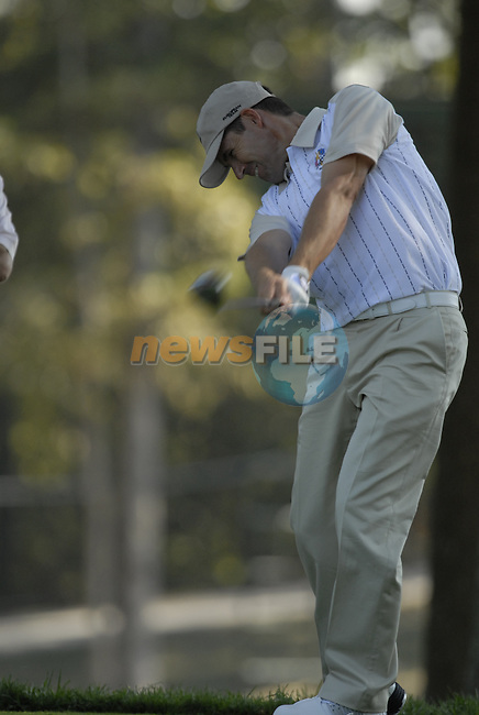 European Team member Padraig Harrington drives off on the 12th tee during Practice Day1 of the 37th Ryder Cup at Valhalla Golf Club, Louisville, Kentucky, USA, 17th September 2008 (Photo by Eoin Clarke/GOLFFILE)