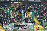 Fans aus Wolfsburg - 23.11.2019: Eintracht Frankfurt vs. VfL Wolfsburg, Commerzbank Arena, 12. Spieltag<br /> DISCLAIMER: DFL regulations prohibit any use of photographs as image sequences and/or quasi-video.