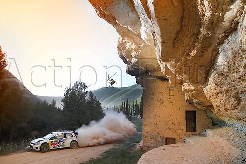 24.10.2014. Catalonia, Spain. WRC Rally of Spain.  Sebastien Ogier (FR) / Julien Ingrassia (FR) - Volkswagen Polo WRC