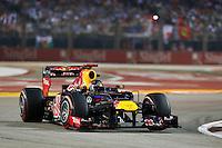 CINGAPURA, CINGAPURA, 23 SETEMBRO 2012 - F1 GP DE CINGAPURA - <br />  O piloto alem&atilde;o Sebastian Vettel, da Red Bull, durante GP de Cingapura de F&oacute;rmula 1, em Cingapura, neste domingo, 23. (FOTO: PIXATHLON / BRAZIL PHOTO PRESS).