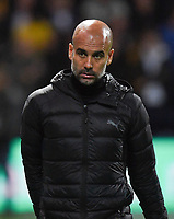 Manchester City's Manager Josep Guardiola<br /> <br /> Photographer Dave Howarth/CameraSport<br /> <br /> The Carabao Cup Third Round - Preston North End v Manchester City - Tuesday 24th September 2019 - Deepdale Stadium - Preston<br />  <br /> World Copyright © 2019 CameraSport. All rights reserved. 43 Linden Ave. Countesthorpe. Leicester. England. LE8 5PG - Tel: +44 (0) 116 277 4147 - admin@camerasport.com - www.camerasport.com