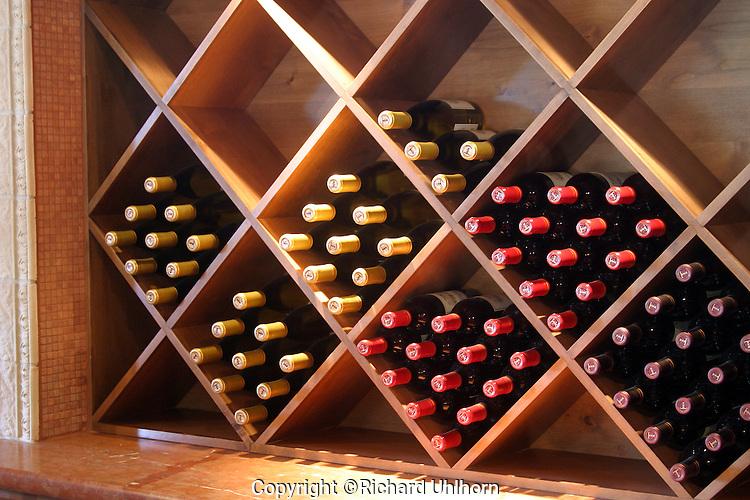 Wine rack at local Lake Chelan winery