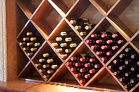 Wine rack at local Lake Chelan winery