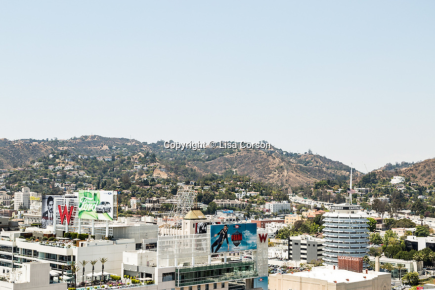 A view from the rooftop at the Hollywood Proper Residences. Los Angeles, Calif. May 26, 2016.