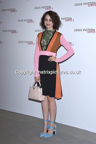 NON EXCLUSIVE PICTURE: MATRIXPICTURES.CO.UK<br /> PLEASE CREDIT ALL USES<br /> <br /> WORLD RIGHTS<br /> <br /> English actress Tuppence Middleton attending the Louis Vuitton Series 3 Exhibition launch party, in London. <br /> <br /> SEPTEMBER 20th 2015<br /> <br /> REF: SLI 152927