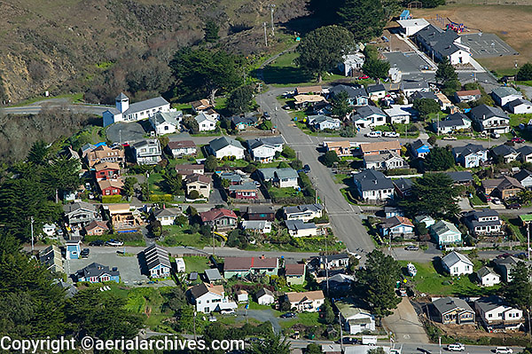 aerial photograph Bodega Bay, Sonoma County, California