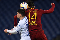Cristian Dell'Orco of Empoli, Patrik Schick of AS Roma <br /> Roma 11-3-2019 Stadio Olimpico Football Serie A 2018/2019 AS Roma - Empoli<br /> Foto Andrea Staccioli / Insidefoto