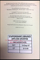BNPS.co.uk (01202 558833)<br /> Pic: Hansons/BNPS<br /> <br /> Staffordshire Library services are thought to have withdrawn the book when the faults were discovered.<br /> <br /> £1 boot fair Potter could sell for £30,000!<br /> <br /> An incredibly rare 1st edition of Harry Potter and the Philosophers Stone, that was withdrawn from sale due to typo faults, is set to sell for £30,000 at auction after being bought for only £1 by its lucky owner.<br /> <br /> Eagle-eyed auctioneer Jim Spencer from Hansons spotted the super rare cover amongst boxes of old books at a valuation - the lucky owner had no idea of its magic value.<br /> <br /> The much sought after title is now being sold by the Derbyshire auctioneers ion 31/8/19.