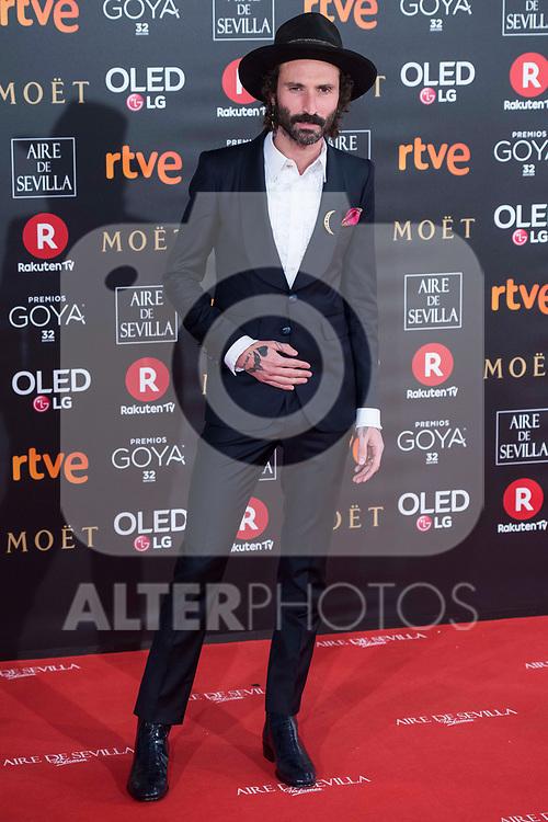 Leiva attends red carpet of Goya Cinema Awards 2018 at Madrid Marriott Auditorium in Madrid , Spain. February 03, 2018. (ALTERPHOTOS/Borja B.Hojas)