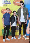 Brooklyn Beckham, Romeo Beckham, Cruz Beckham attends 2015 Nickelodeon Kids' Choice Awards  held at The Forum in Inglewood, California on March 28,2015                                                                               © 2015 Hollywood Press Agency