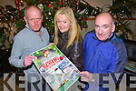 GATHERING: Launching the Kerins O'Rahilly's Ladies Gathering past and present players to held on St Stephen's Day at 12:00pm at the Strand Road clubhouse, Tralee seated l-r: James Hayes (treasurer), Christina Curtin (secretary) and Dan Walsh (chairman).
