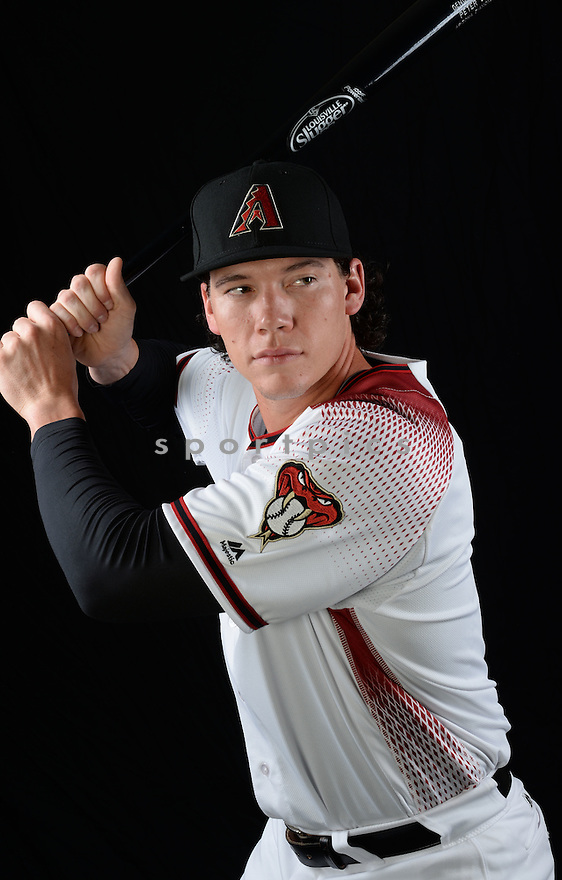 Arizona Diamondbacks Peter O'Brien (14) during photo day on February 28, 2016 in Scottsdale, AZ.