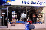 A728K7 Help the Aged charity shop in British high street