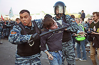 Police Battle Moscow Protestors