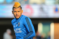 San Jose, CA - Saturday May 06, 2017: Anibal Godoy prior to a Major League Soccer (MLS) match between the San Jose Earthquakes and the Portland Timbers at Avaya Stadium.