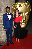 Alhaji Fofana &amp; Savannah Baker at the British Academy Childrens Awards 2017 at the Roundhouse, Camden, London, UK. <br /> 26 November  2017<br /> Picture: Steve Vas/Featureflash/SilverHub 0208 004 5359 sales@silverhubmedia.com