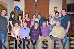 GREETINGS: The family of Mary O'Halloran from Ballyheigue who treated her to dinner in Kate Brownes Bar & Restaurant, Ardfert for her 50th birthday and afterwards to McElligotts Bar, Ardfert for more celebrations with her family and friends. Front l-r: Sarah Scanlon, Mary Duggan, Mary O'Halloran(birthday lady), Donie O'Halloran and Thomas Duggan.Back l-r: Gary Kenny, Claire O'Halloran, A?ine O'Halloran, Mary O'Halloran, Audrey Fortune, Thomas,Mairead, Brendan(jnr), John Joe and Brendan Duggan(snr).......... . ............................... ..........