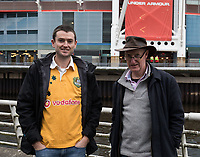 Australia fans outside of the stadium<br /> <br /> Photographer Simon King/CameraSport<br /> <br /> International Rugby Union - 2017 Under Armour Series Autumn Internationals - Wales v Australia - Saturday 11th November 2017 - Principality Stadium - Cardiff<br /> <br /> World Copyright &copy; 2017 CameraSport. All rights reserved. 43 Linden Ave. Countesthorpe. Leicester. England. LE8 5PG - Tel: +44 (0) 116 277 4147 - admin@camerasport.com - www.camerasport.com
