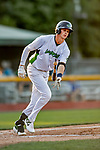 29 August 2019: Vermont Lake Monsters infielder Logan Davidson in action during a game against the Connecticut Tigers at Centennial Field in Burlington, Vermont. The Lake Monsters fell to the Tigers 6-2 in the first game of their NY Penn League double-header.  Mandatory Credit: Ed Wolfstein Photo *** RAW (NEF) Image File Available ***