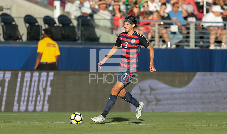 Santa Clara, CA - Wednesday July 26, 2017: Omar Gonzalez during the 2017 Gold Cup Final Championship match between the men's national teams of the United States (USA) and Jamaica (JAM) at Levi's Stadium.