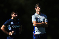 Luke Charteris of Bath Rugby looks on. Bath Rugby pre-season training session on August 9, 2016 at Farleigh House in Bath, England. Photo by: Patrick Khachfe / Onside Images