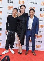 11 September 2017 - Toronto, Ontario Canada - Maddox Jolie-Pitt, Angelina Jolie, Pax Jolie-Pitt. 2017 Toronto International Film Festival - &quot;First They Killed My Father&quot; Premiere held at Princess of Wales Theatre. <br /> CAP/ADM/BPC<br /> &copy;BPC/ADM/Capital Pictures