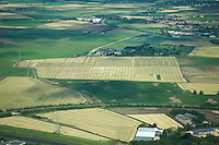 Aerial view of a commercial cereals trial - July, Lincolnshire