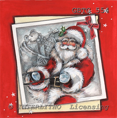 Theresa, CHRISTMAS SANTA, SNOWMAN, paintings, GBTG554,#x# Weihnachtsmänner, Schneemänner, Weihnachen, Papá Noel, muñecos de nieve, Navidad, illustrations, pinturas