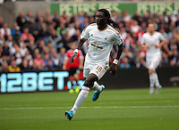 Pictured: Bafetimbi Gomis of Swansea Sunday 30 August 2015<br /> Re: Premier League, Swansea v Manchester United at the Liberty Stadium, Swansea, UK