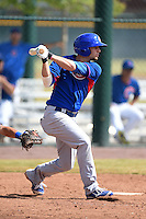 Chicago Cubs second baseman Danny Lockhart (20) during an Instructional League intersquad game on October 9, 2014 at Cubs Park Complex in Mesa, Arizona.  (Mike Janes/Four Seam Images)