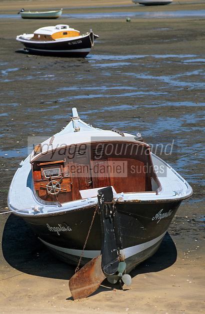 Europe/France/Aquitaine/33/Gironde/Bassin d'Arcachon/Le Cap Ferret: Pinasse au port ostréïcole