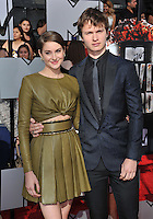 Shailene Woodley &amp; Ansel Elgort at the 2014 MTV Movie Awards at the Nokia Theatre LA Live.<br /> April 13, 2014  Los Angeles, CA<br /> Picture: Paul Smith / Featureflash
