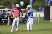 Paul Waring (ENG) speaking to the EDGE players after they finished there round ahead of the 3rd round of the DP World Tour Championship, Jumeirah Golf Estates, Dubai, United Arab Emirates. 23/11/2019<br /> Picture: Golffile | Fran Caffrey<br /> <br /> <br /> All photo usage must carry mandatory copyright credit (© Golffile | Fran Caffrey)