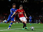 Mason Holgate of Everton in action with Ander Herrera of Manchester United during the English Premier League match at Old Trafford Stadium, Manchester. Picture date: April 4th 2017. Pic credit should read: Simon Bellis/Sportimage