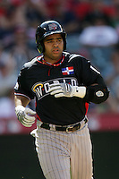 Wilin Rosario of the Colorado Rockies organization participates in the Futures Game at Angel Stadium in Anaheim,California on July 11, 2010. Photo by Larry Goren/Four Seam Images