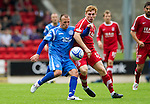 St Johnstone v Aberdeen...21.08.10  .Jody Morris and Fraser Fyvie.Picture by Graeme Hart..Copyright Perthshire Picture Agency.Tel: 01738 623350  Mobile: 07990 594431