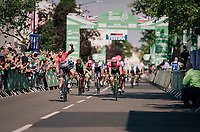 Andr&eacute; Greipel (DEU/Lotto-Soudal) wins stage 4<br /> <br /> 15th Ovo Energy Tour of Britain 2018 (2.HC)<br /> Stage 4: Nuneaton to Royal Leamington Spa (183km)