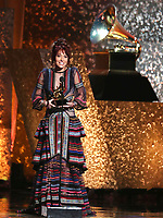 "Lauren Daigle accepts the award for best contemporary christian music/song for ""You Say"" at the 61st annual Grammy Awards on Sunday, Feb. 10, 2019, in Los Angeles. (Photo by Matt Sayles/Invision/AP)"