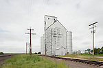 Grain elevators by the UP railroad tracks